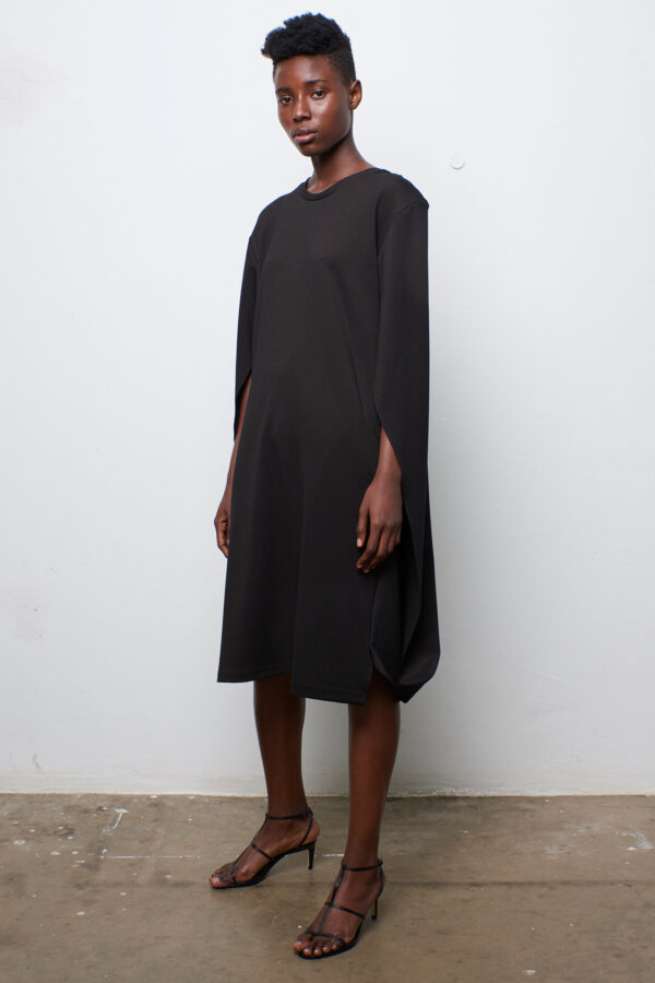 Folded Cape Dress