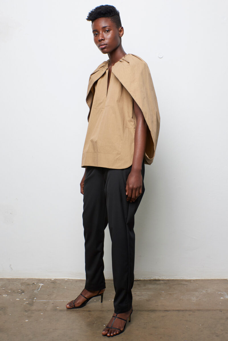 Gathered Cape Top