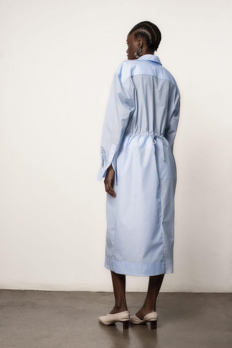 Fabric Block Shirt Dress