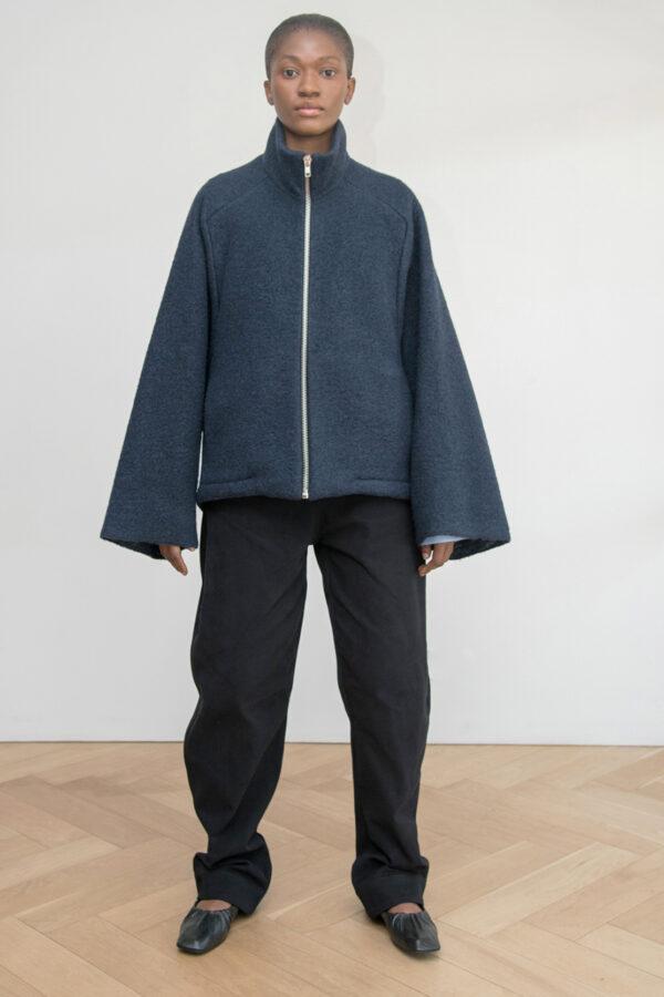 Zip-up Jacket in Wool