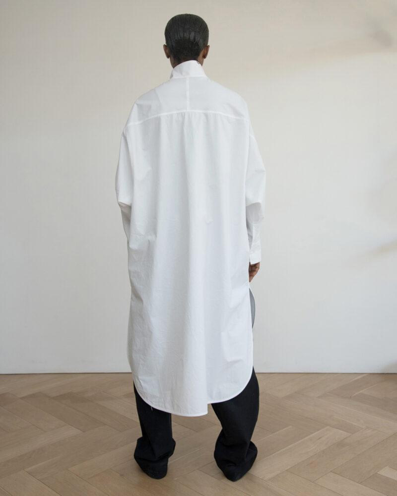 Funnel Neck Shirt Dress
