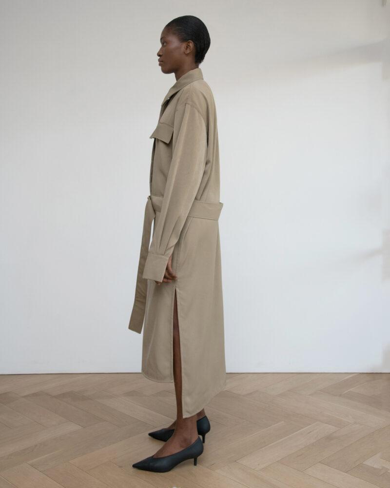 Wool Blend Polo Dress