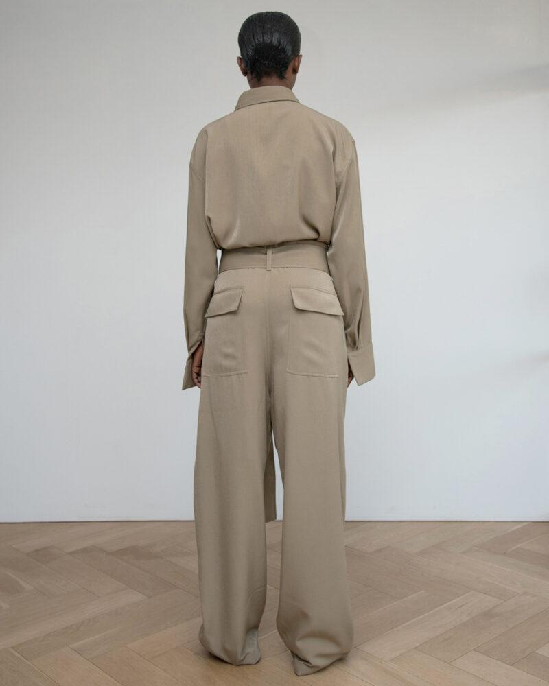 Wool Blend Collapsable Waist Trouser